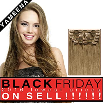 9 piece clip in hair extentions