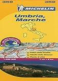 Michelin Map Italy: Umbria, Marche 359 (1:200K) (Maps/Local (Michelin)) (Italian Edition)