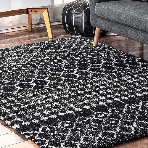 nuLOOM Barbara Moroccan Area Rug, 5 3 x 7 7 , Black