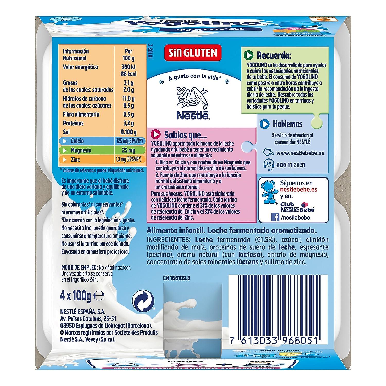 Iogolino - Natural A Partir De 6 Meses 4 x 100 g: Amazon.es: Alimentación y bebidas