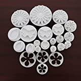 Kurtzy Cookie Cutter Plunger Moulds For Icing Fondant Shape Sugar Craft Cupcake Biscuits Donuts Pancake Desserts Pastries 23 Pieces Assorted