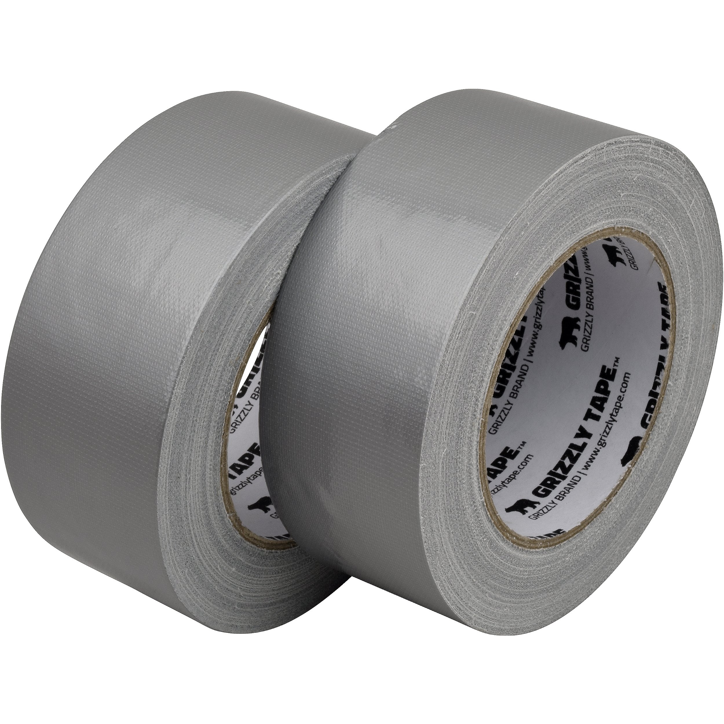 Grizzly Brand Professional Grade Duct Tape, Silver Color Multi Pack, 11mil Thick (1.88 inch x 30 Yards), 48mm x 28m, 2-Pack Rolls