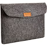 AmazonBasics 15.4 Inch Felt Macbook Laptop Sleeve Case - Charcoal