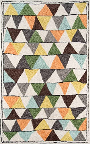 Novogratz Bungalow Collection Tri Area Rug, 9 0 x 12 0 , Multicolor