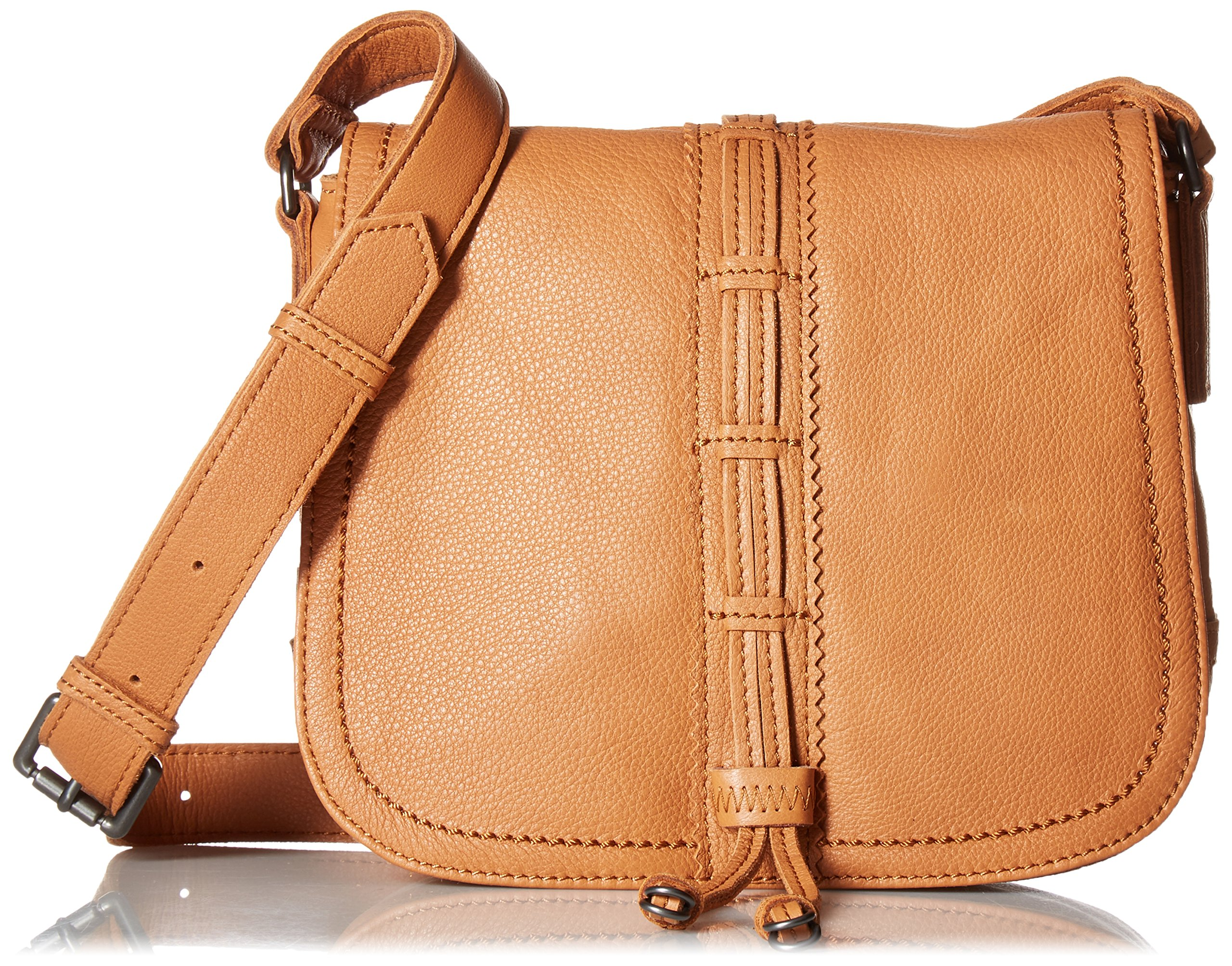 Liebeskind Berlin Women's Huntsville Leather Saddle Bag, Cognac