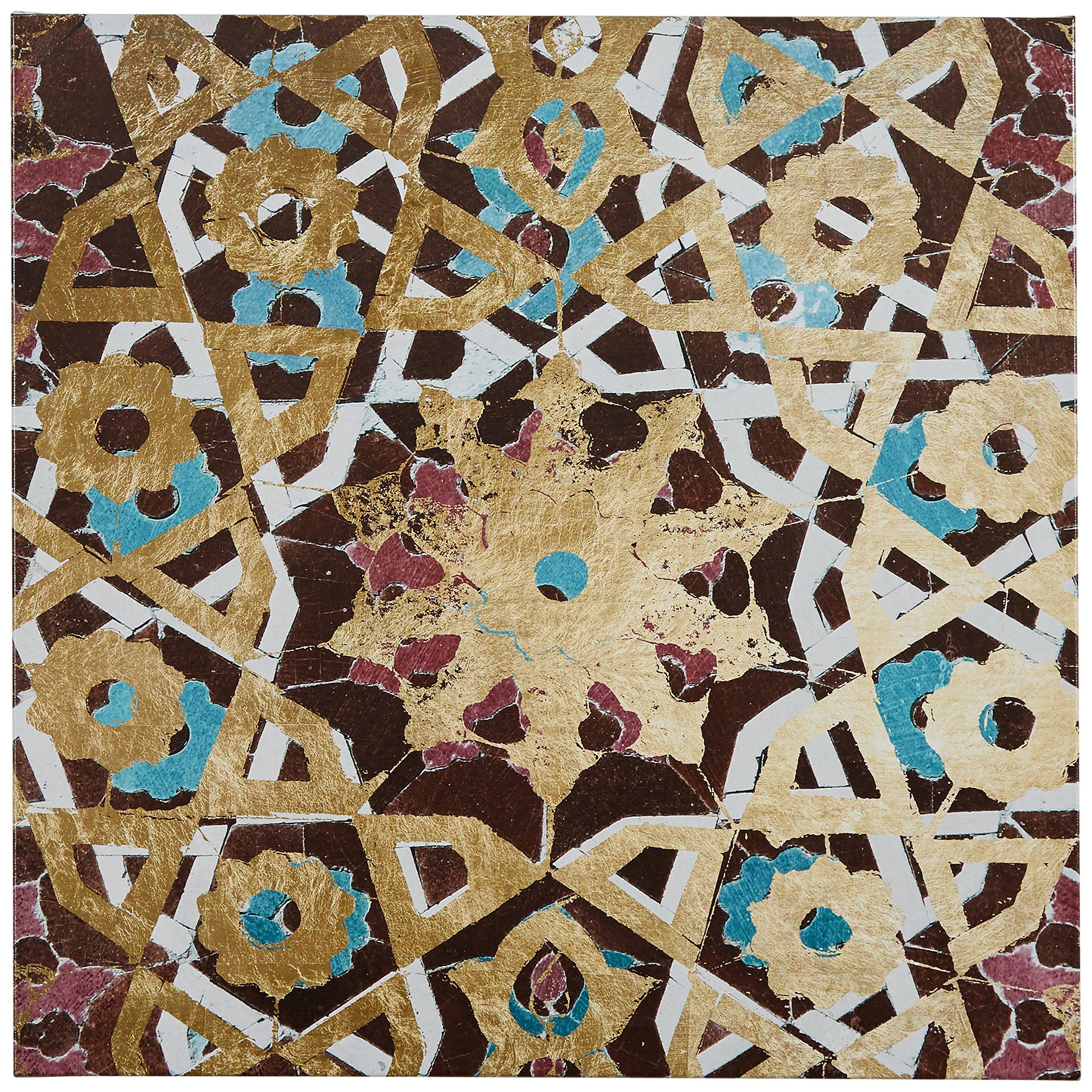 Metallic Bronze Mosaic Tile Print, 24'' x 24'' by Rivet