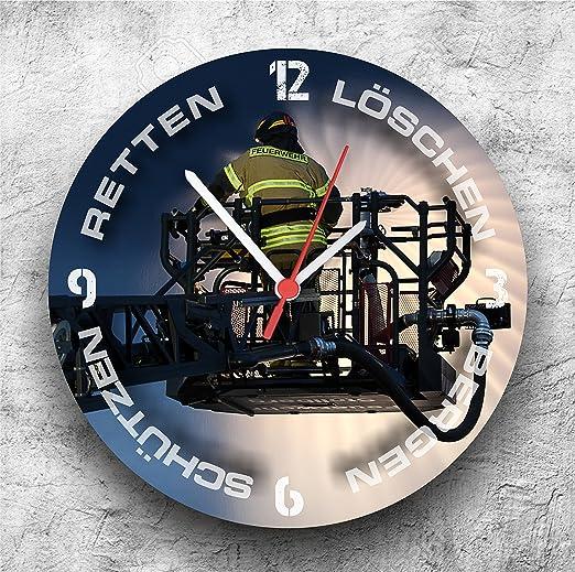 Grifo roja 112 Cadena de Bomberos Reloj de Pared Reloj Deriva Escalera/25/gerä ucharm: Amazon.es: Juguetes y juegos