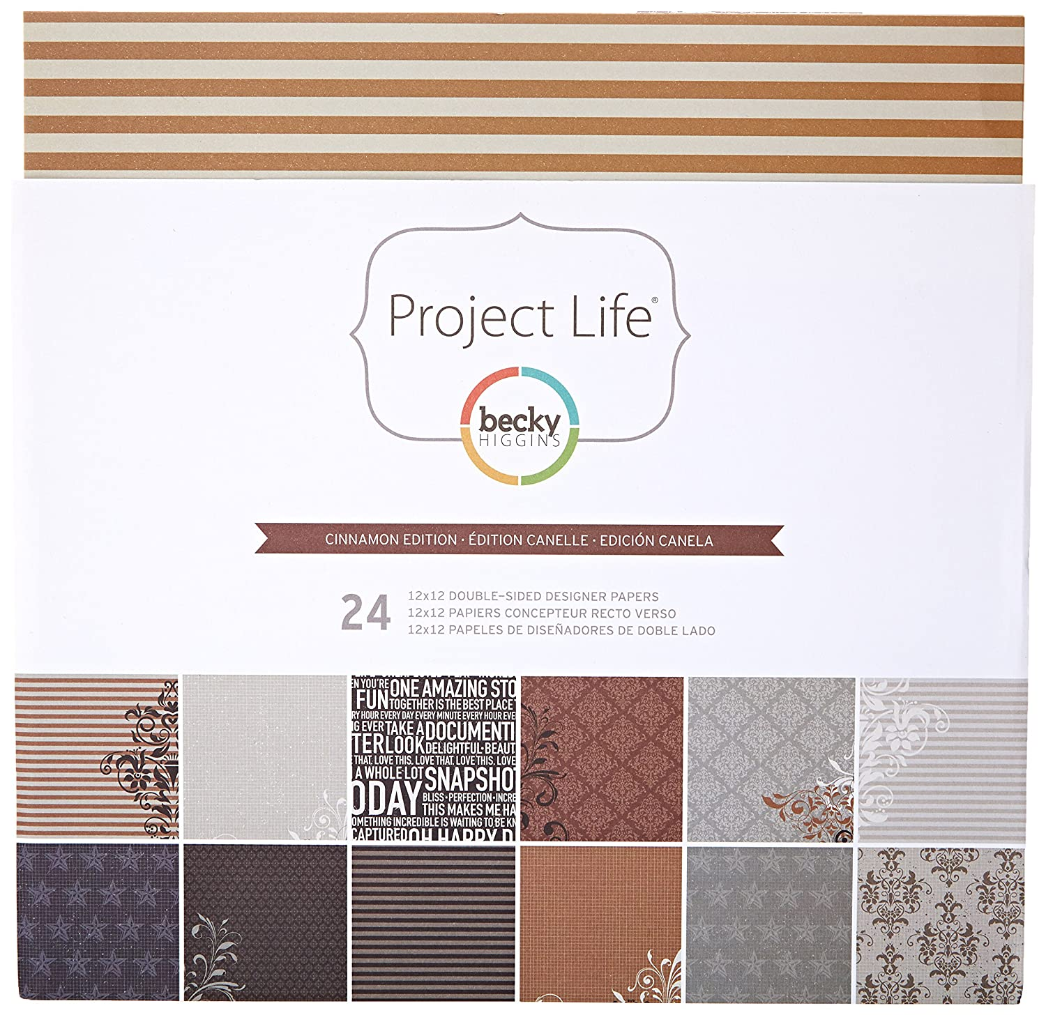12 24 Project Life CINNAMON EDITION 12x12 Paper Pack Designs Sheets