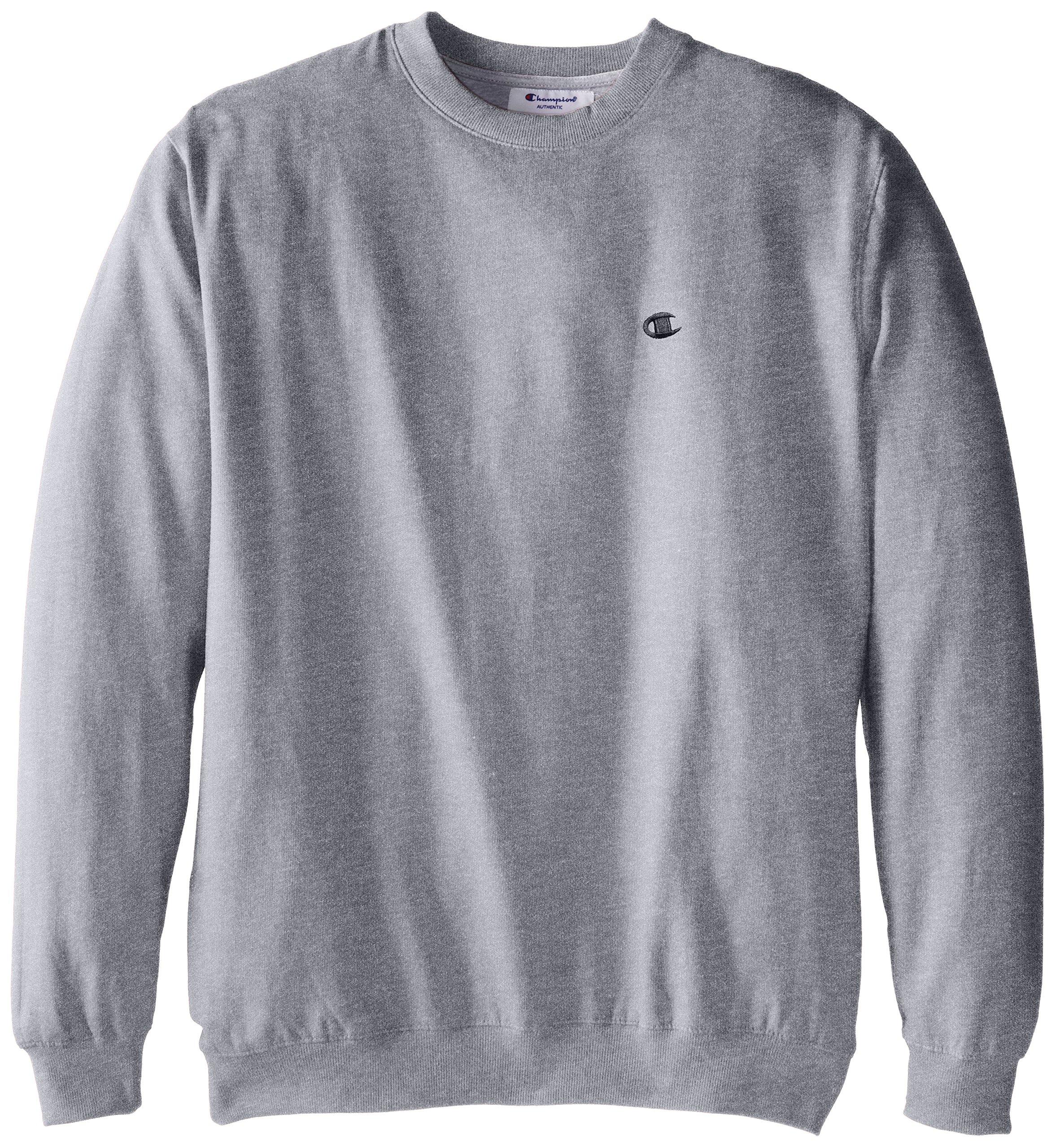 Champion Men's Big-Tall Fleece Crew Sweatshirt, Grey Heather, 4X/Tall