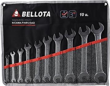 Bellota 6490-10 BS juego 10 llaves fijas en bolsa, 0 W, 0 V: Amazon.es: Bricolaje y herramientas