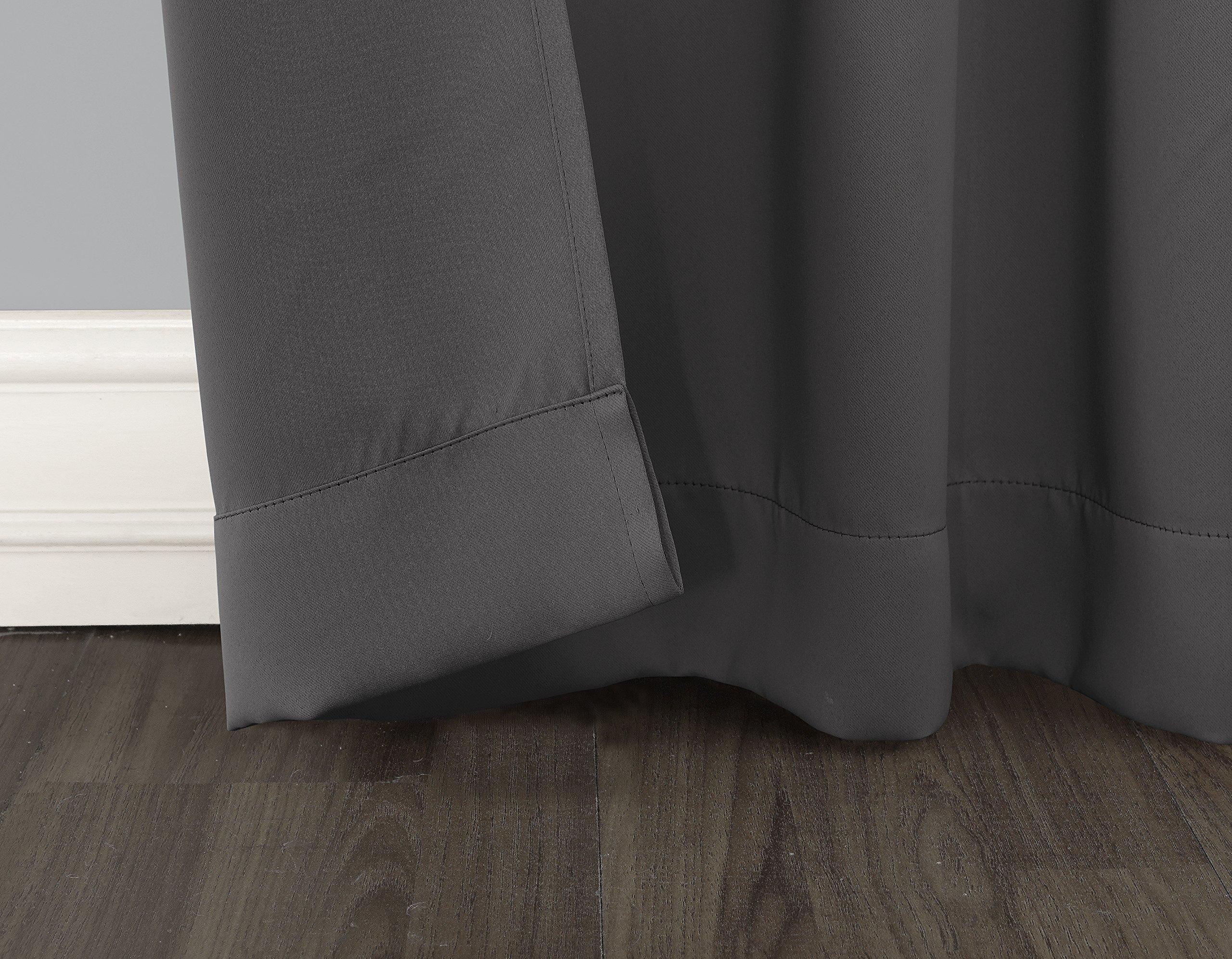 sun zero easton blackout patio door curtain panel 100 x 84 charcoal gray ebay. Black Bedroom Furniture Sets. Home Design Ideas