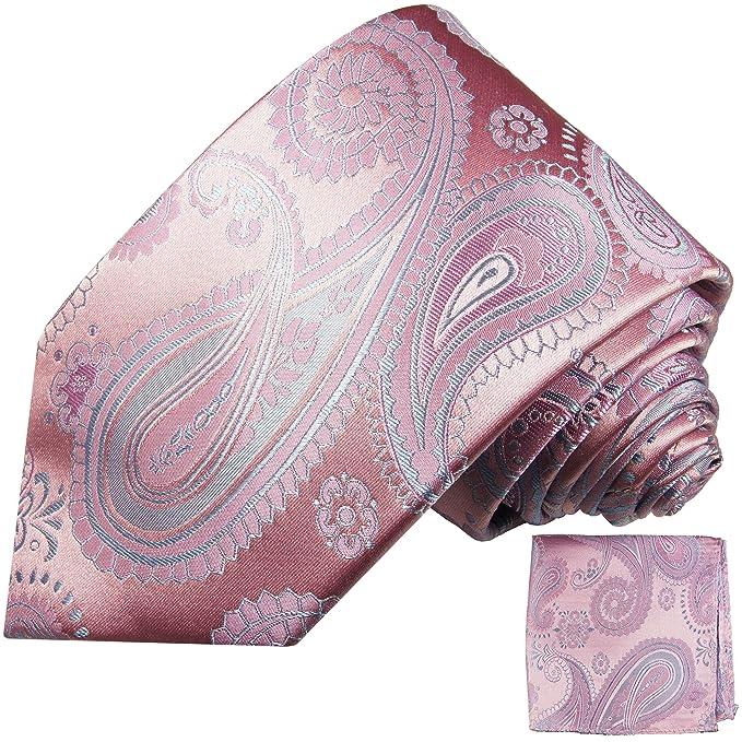 Corbatas Set 2 piezas rosa azul paisley 100% boda corbata (extra ...
