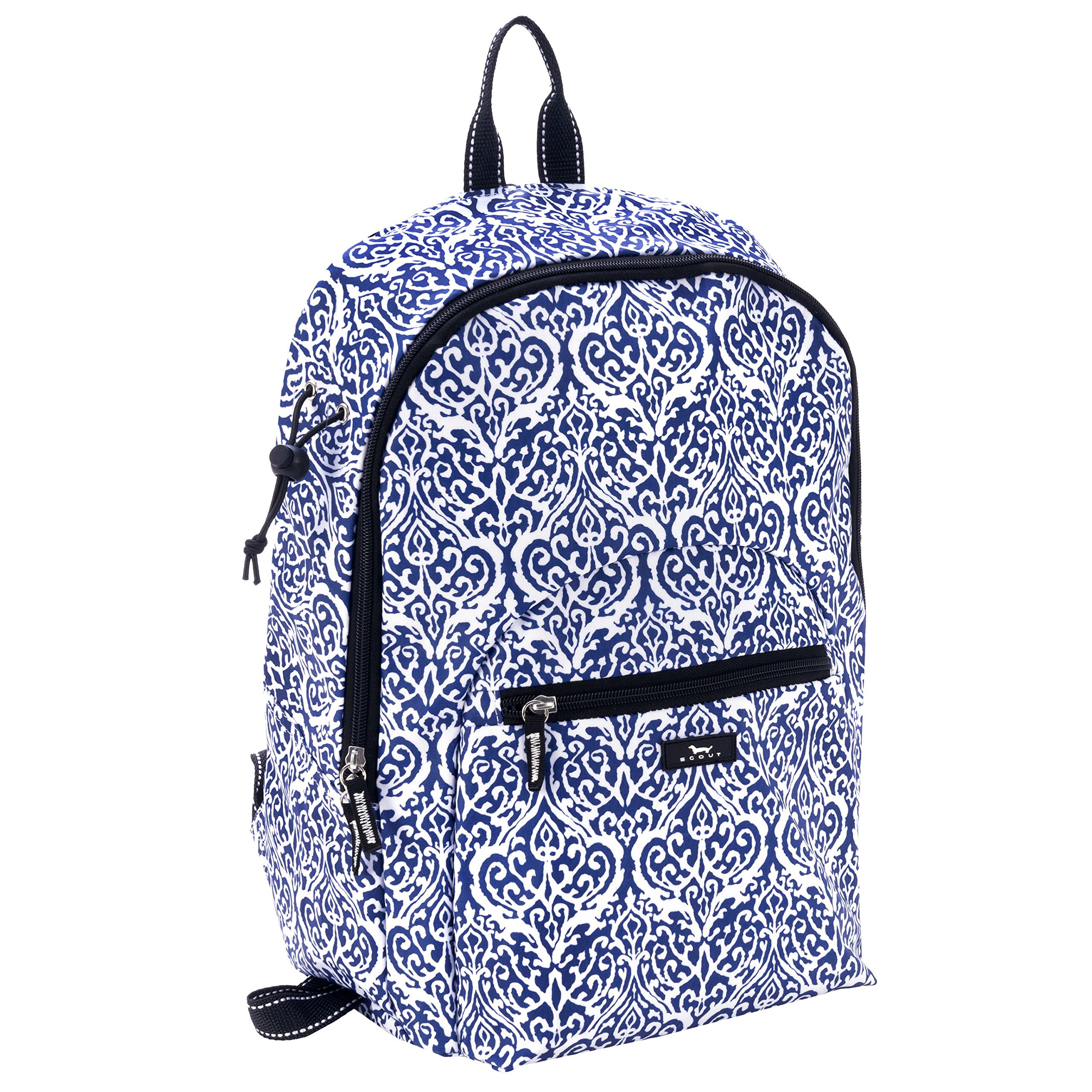 SCOUT Big Draw Backpack School Bag, Interior Laptop Sleeve, Padded & Adjustable Straps, Water Resistant, Zips Closed, Royal Highness