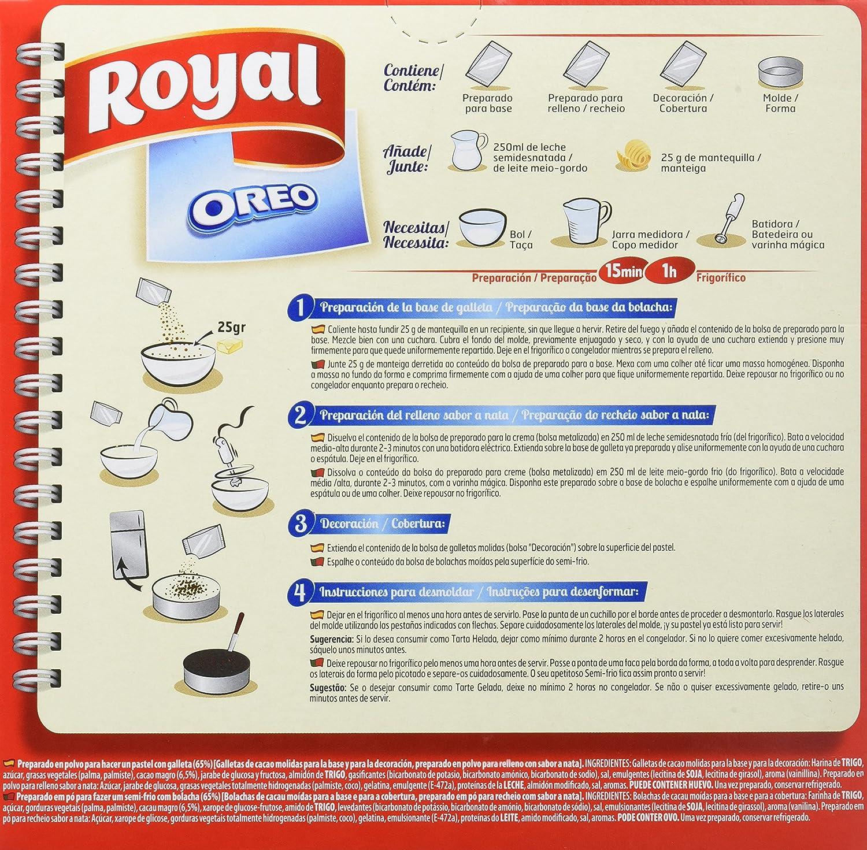 Royal - Tarta Oreo - No Horno, 215 g - [Pack de 7]: Amazon.es: Alimentación y bebidas