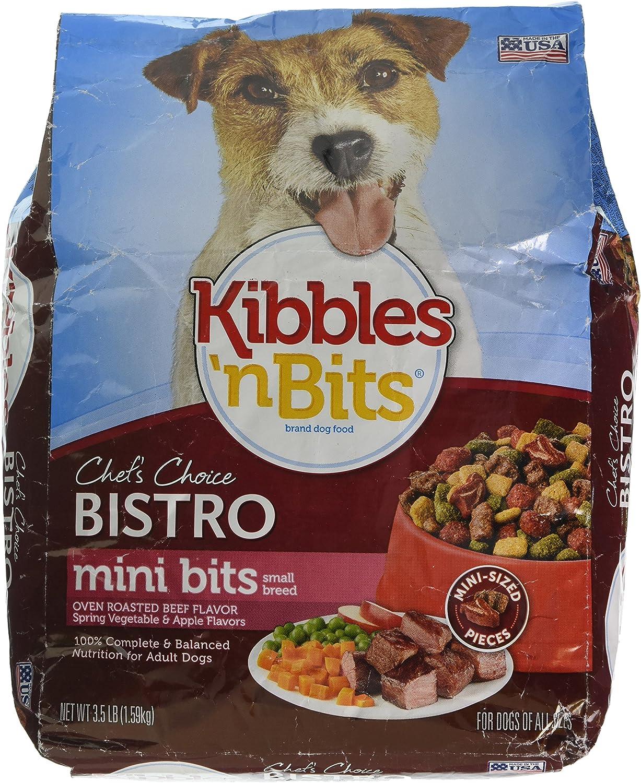 Kibbles 'N Bits Bistro Small Breed Mini Bits Dog Food - Oven Roasted Beef - 3.5 Lb