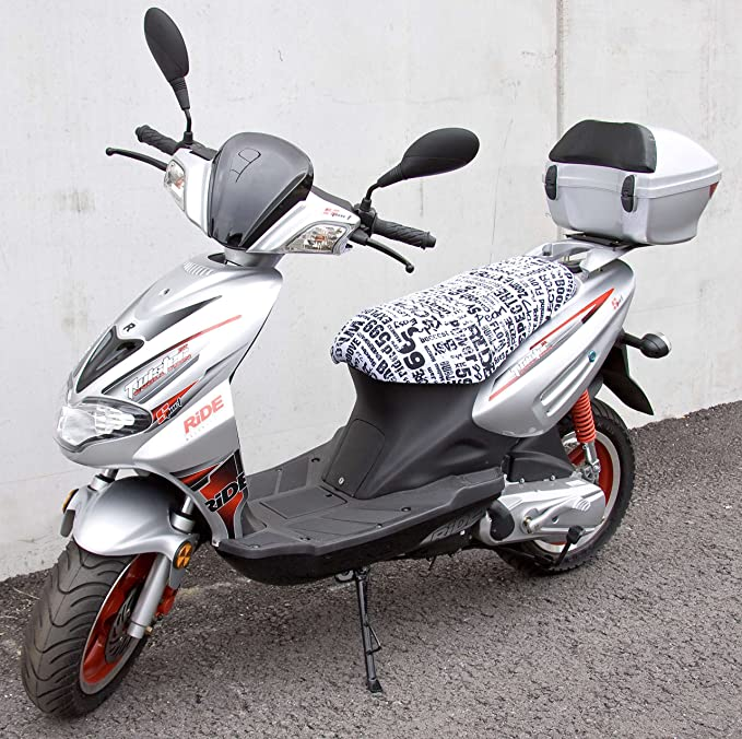 Walser Crunch Extreme 18004 Scooter Cover For Cracker Twister Models White Black Auto