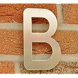 Numero de Maison Lettre B - acier inox brossé - 15 cm - résistant aux intempéries - Installation facile