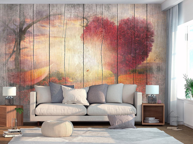 Decoración de Pared decorativos Murales moderna de Diseno Fotográfico Paisaje Arbol Corazon f-C-0175-a-a