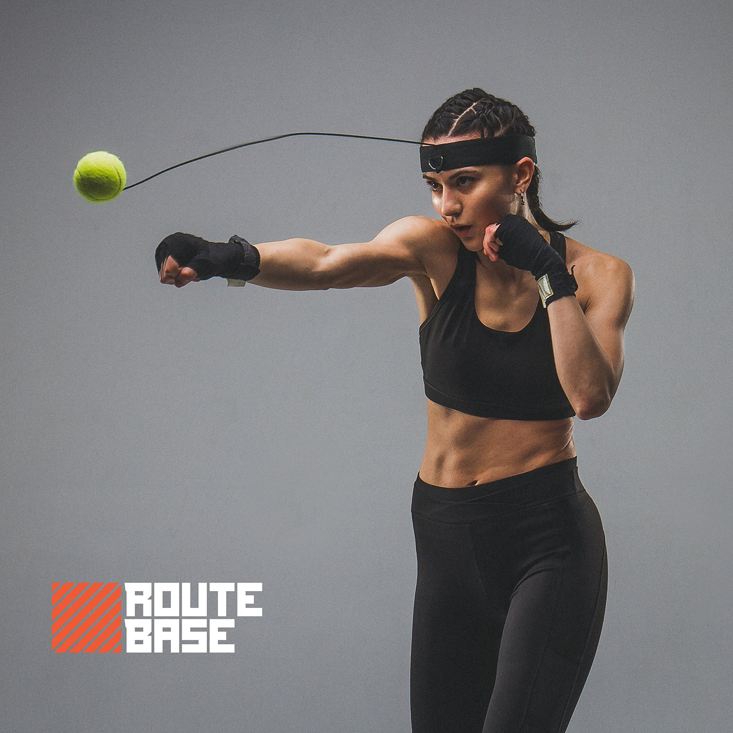 Boxing Fight Ball Reflex, Boxing Headband, tennis Ball with string to improve Reaction and Speed Punch, perfect for Hand Eye Coordination Training and Punching Speed Improvement, MMA and Gym Equipment