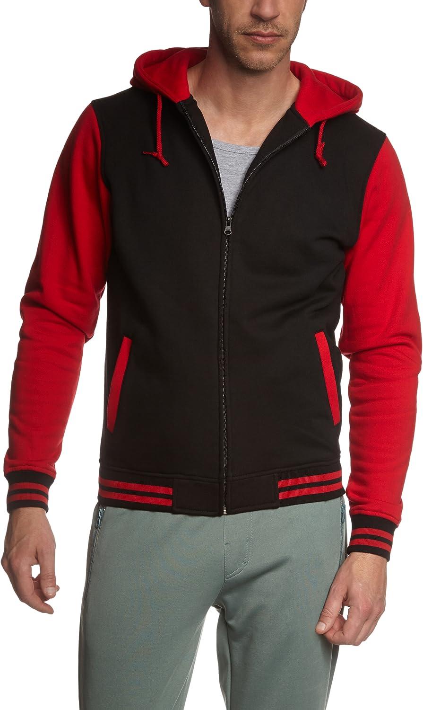 Mehrfarbig (schwarz rot 44) S Ur  Classics Herren Jacke Bekleidung Zip Hoody