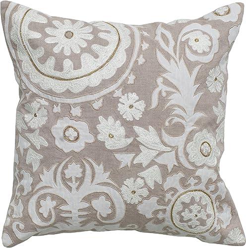 Rizzy Home T04907 Decorative Pillow, 18 X18 , Khaki