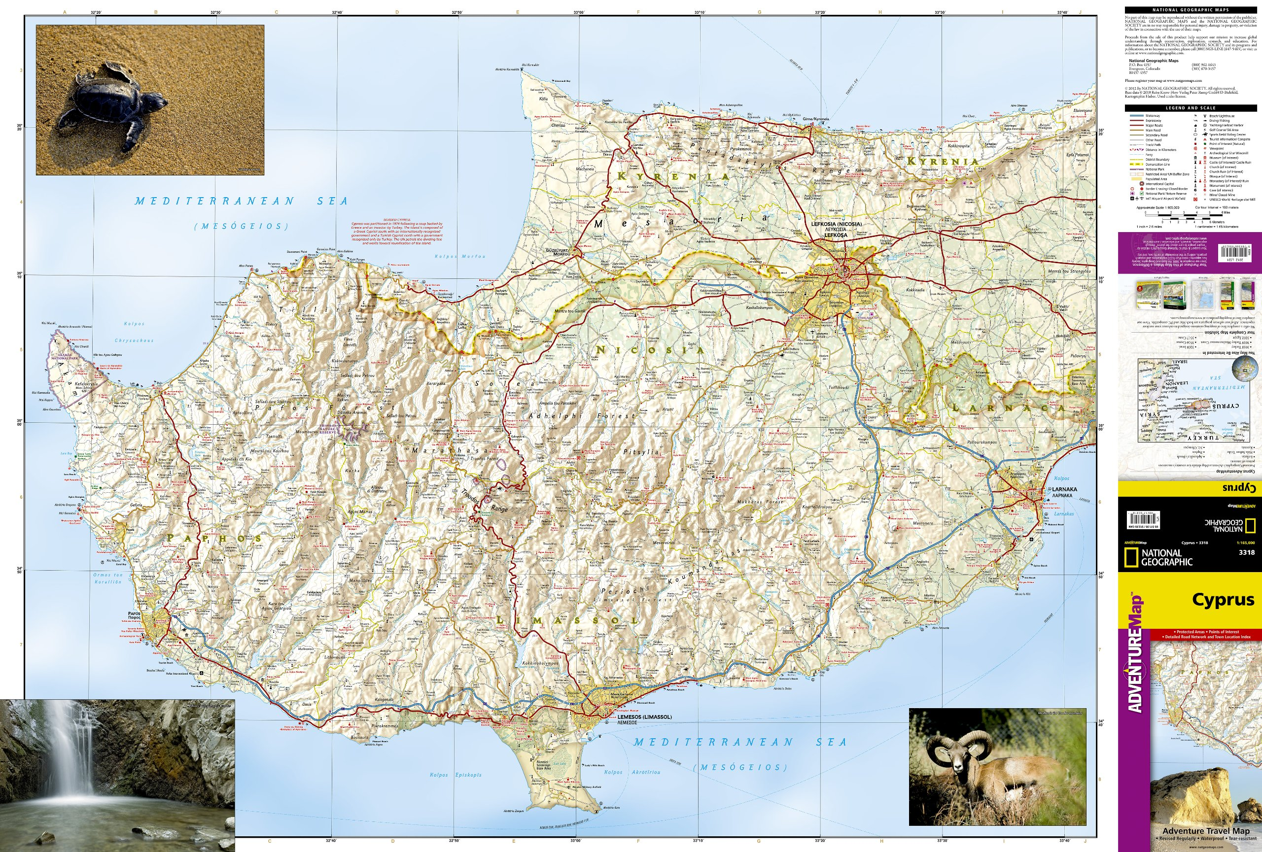 Cyprus national geographic adventure map national geographic maps cyprus national geographic adventure map national geographic maps adventure 9781566956239 amazon books publicscrutiny Gallery