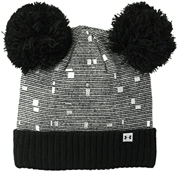 24b423646d8 Under Armour Girls Double Pom Beanie