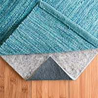 RUGPADUSA - Basics - 2'x3' - 1/4″ Thick - Felt + Rubber - Dual Surface Non-Slip Rug Pad - Cushioning Felt for Added Comfort - Safe for All Floors and Finishes