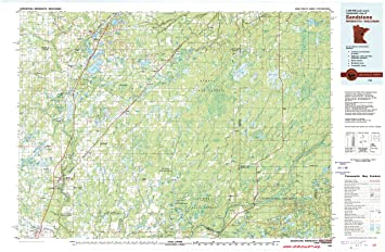 Amazon.com : Sandstone MN topo map, 1:100000 scale, 30 X 60 Minute ...