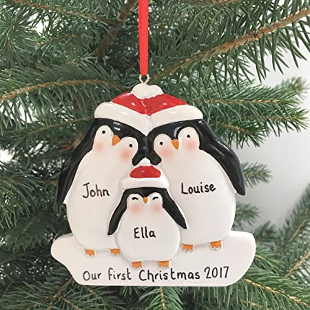 Personalised Christmas decoration, family's first decoration, my 1st Xmas  decoration, baby gift ornament - Personalised Christmas Decoration, Family's First Decoration, My 1st
