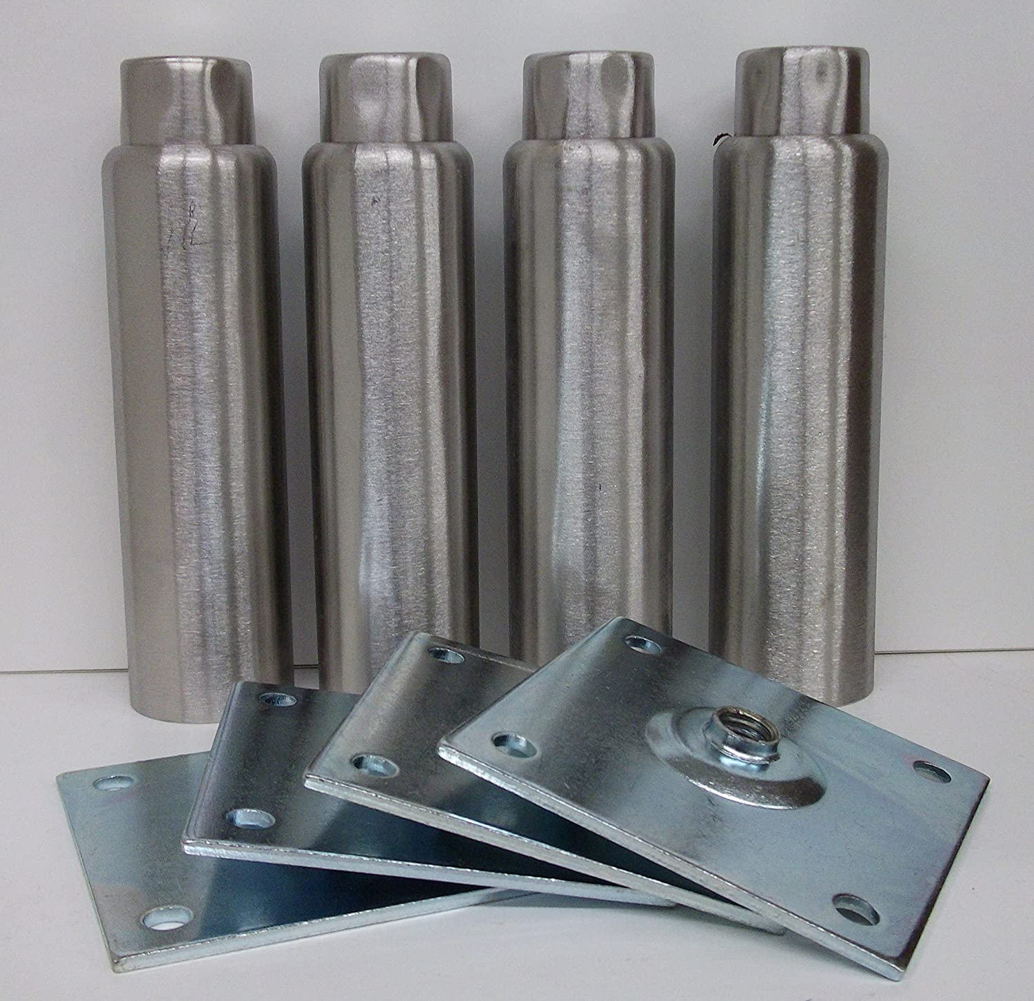 "Component Hardware NSF A48-5048-C 6"" Stainless Steel Adjustable Leg ""set of 4 legs"""