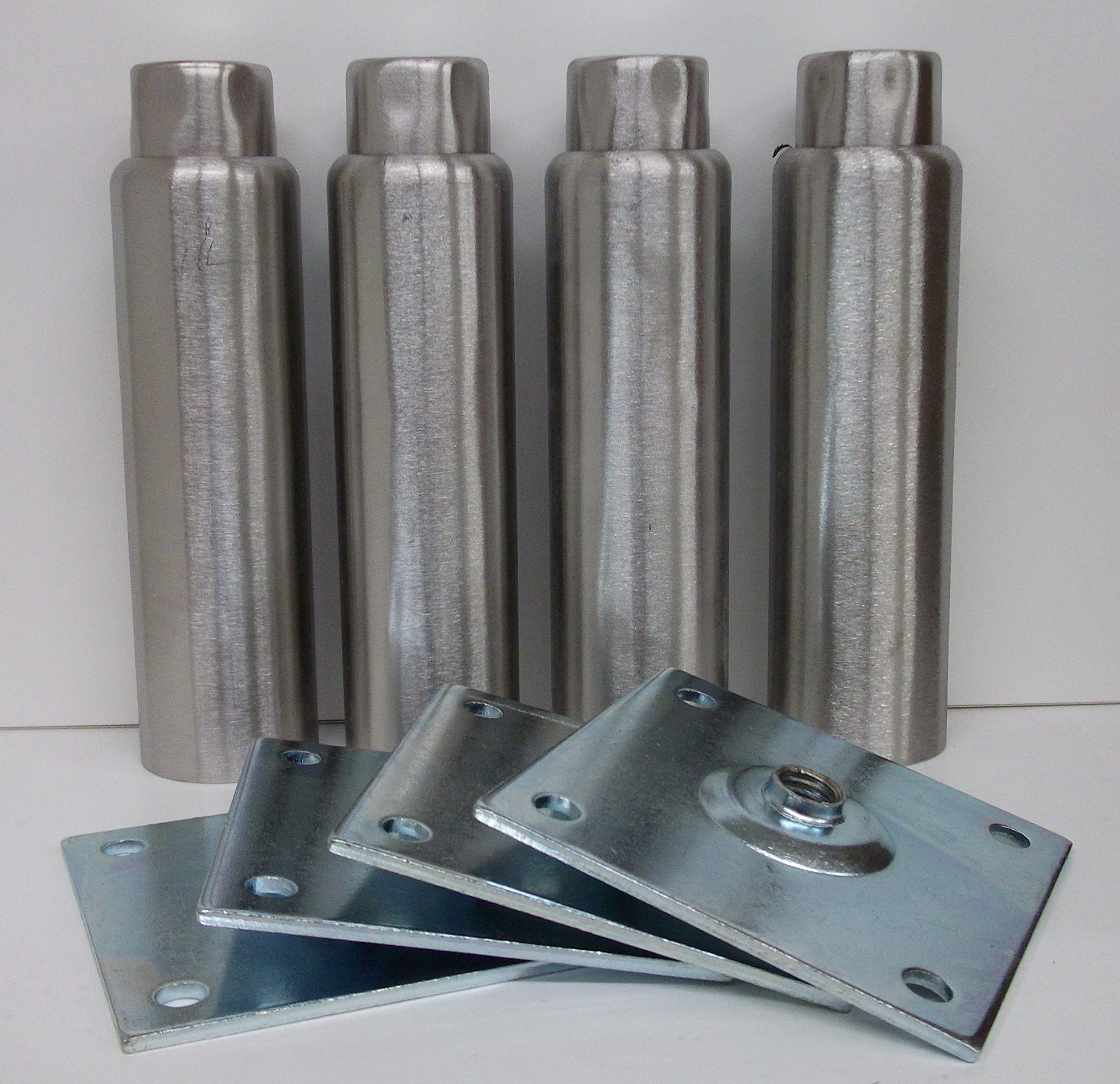 Component Hardware NSF A48-5048-C 6'' Stainless Steel Adjustable Leg ''set of 4 legs''