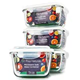 Amazon Price History for:[Premium] Glass Meal Prep Containers [4-Pack] Microwave, Freezer & Oven safe - Food Storage with SmartestLock Lids [Comparable to Glass Tupperware Container Set ] by Prep Naturals