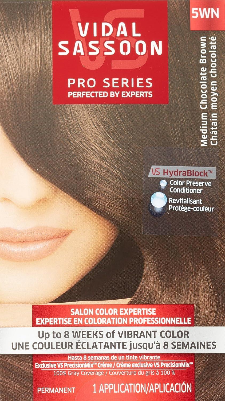 Vidal Sassoon Pro Series Hair Color, 5WN Medium Chocolate Brown, 1 Kit