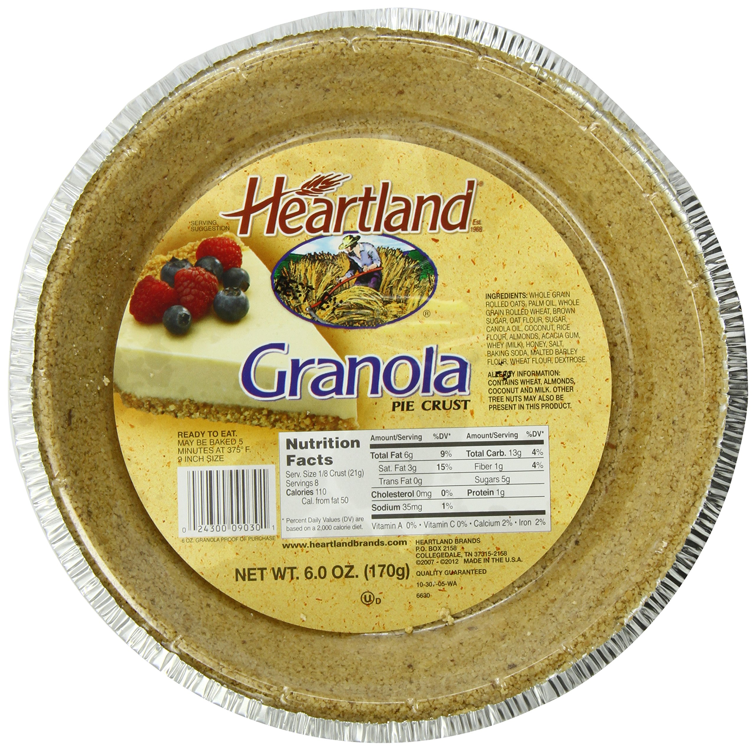 Heartland Pie Shell Granola, 6-Ounce (Pack of 12)