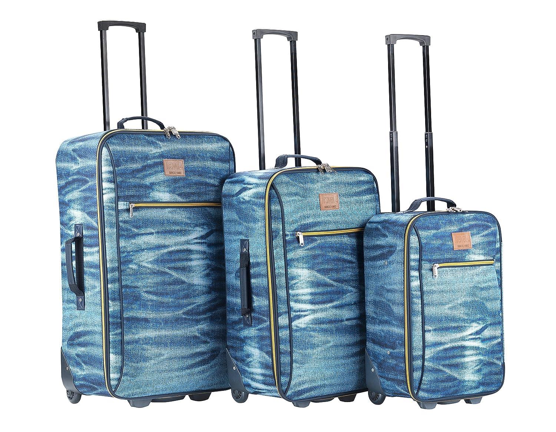 Travelz Kofferset 3-teilig Koffersä tz 2 rä der Jeans 601818