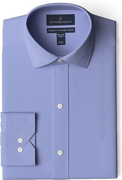 BUTTONED DOWN Mens Classic Fit French Cuff Dress Shirt Brand Spread Collar Supima Cotton Non-Iron