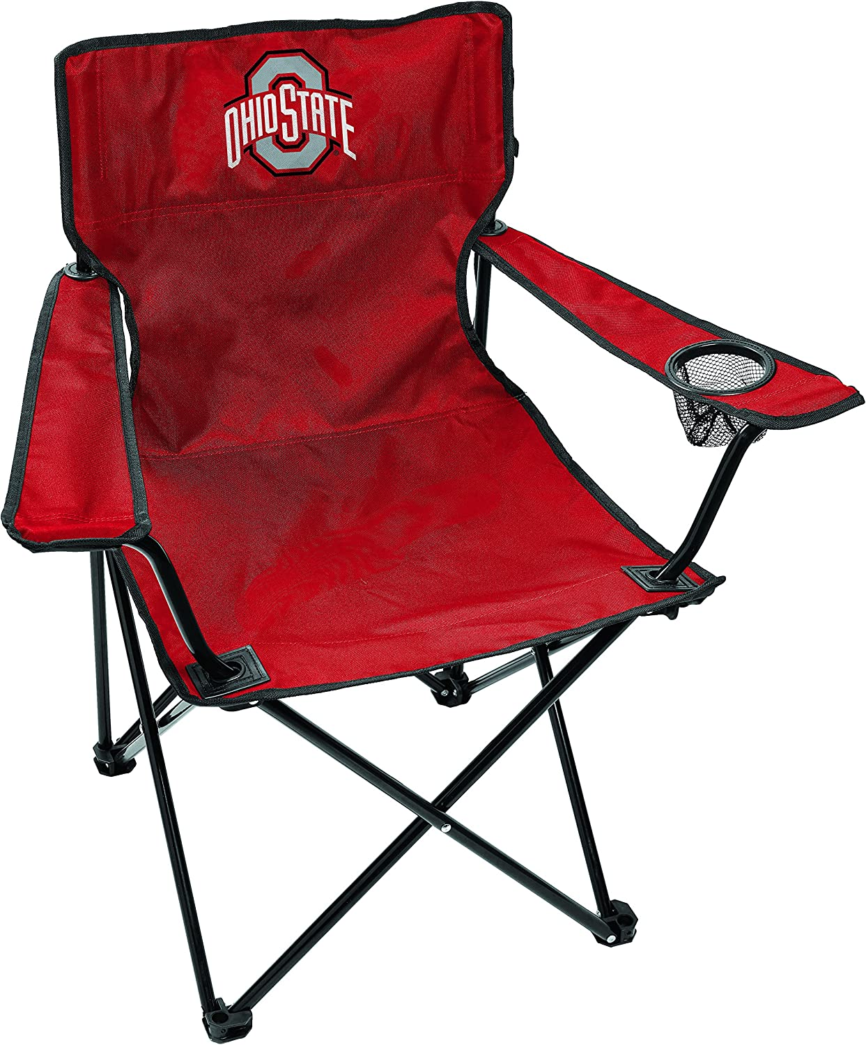 Rawlings NCAA Gameday Elite Lightweight Folding Tailgating Chair Ohio State Buckeyes with Carrying Case