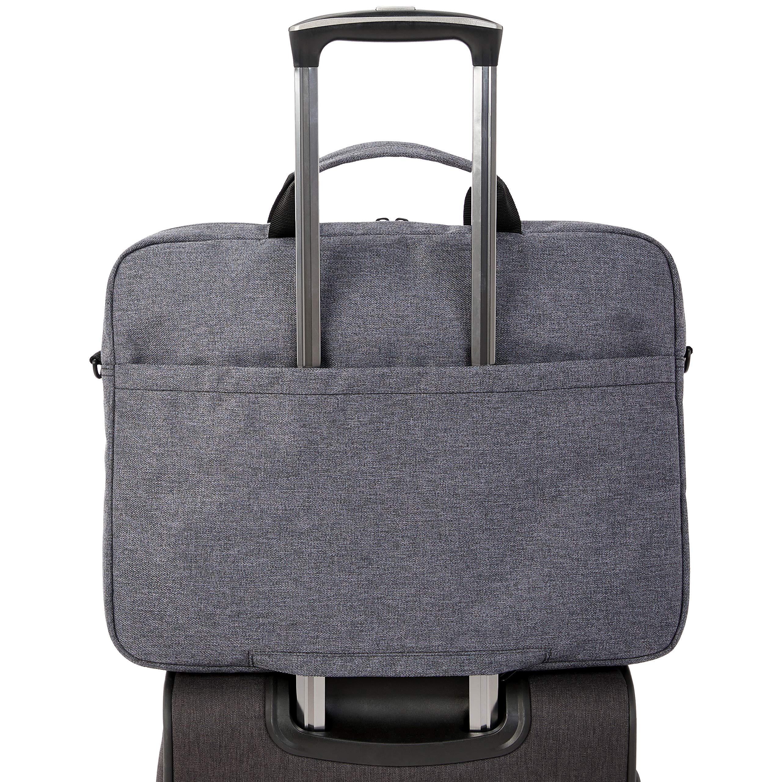 AmazonBasics Urban Laptop and Tablet Case Bag, 17 Inch, Grey by AmazonBasics (Image #7)