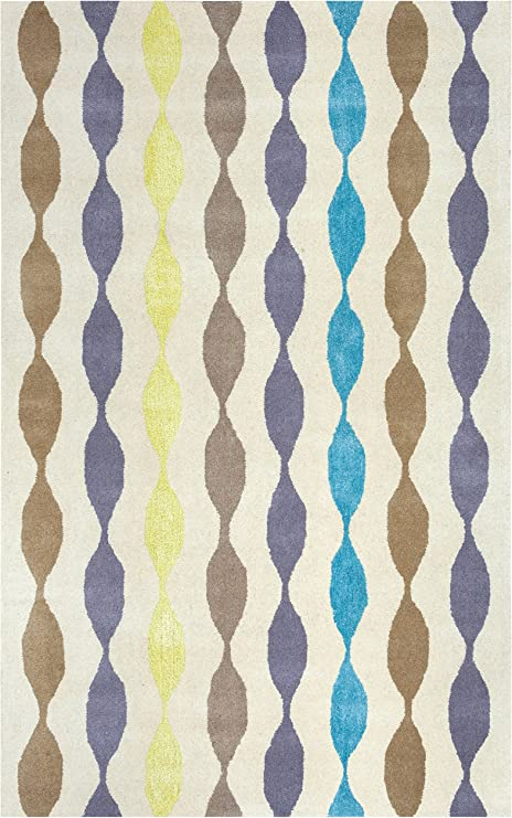 Amazon Com Rizzy Home Gillespie Avenue Collection Wool Viscose Area Rug 9 X 12 Brown Grey Yellow Blue Gray Rust Blue Geometric Home Kitchen