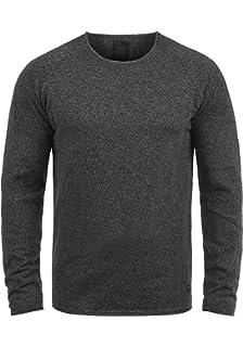 3703ad916542aa PRODUKT Percifal Herren Strickpullover Feinstrick Pullover Mit Rundhals Und  Melierung Aus 100% Baumwolle