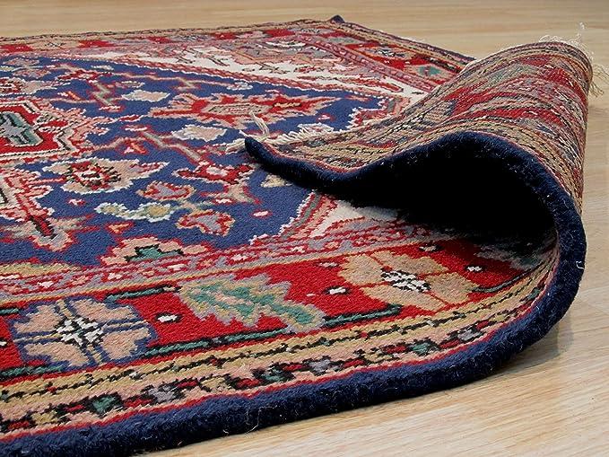 Amazon.com: EORC lana anudada a mano Heriz alfombra, Lana ...