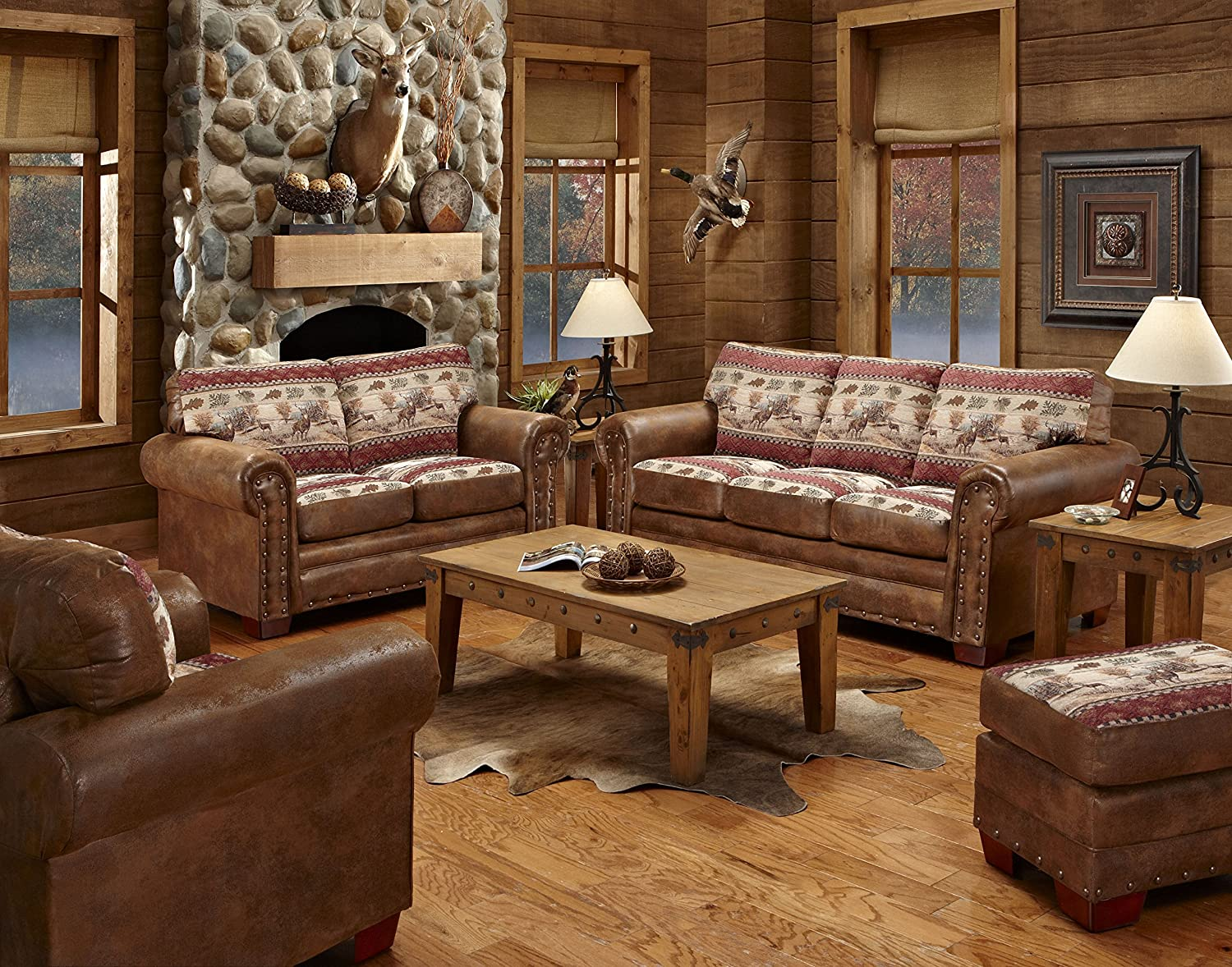Amazon.com: American Furniture Classics 4 Piece Deer Valley Sofa: Kitchen U0026  Dining