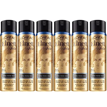 96fe14b3bf9 Image Unavailable. Image not available for. Color: L'Oréal Paris Elnett  Satin Extra Strong Hold Hairspray ...