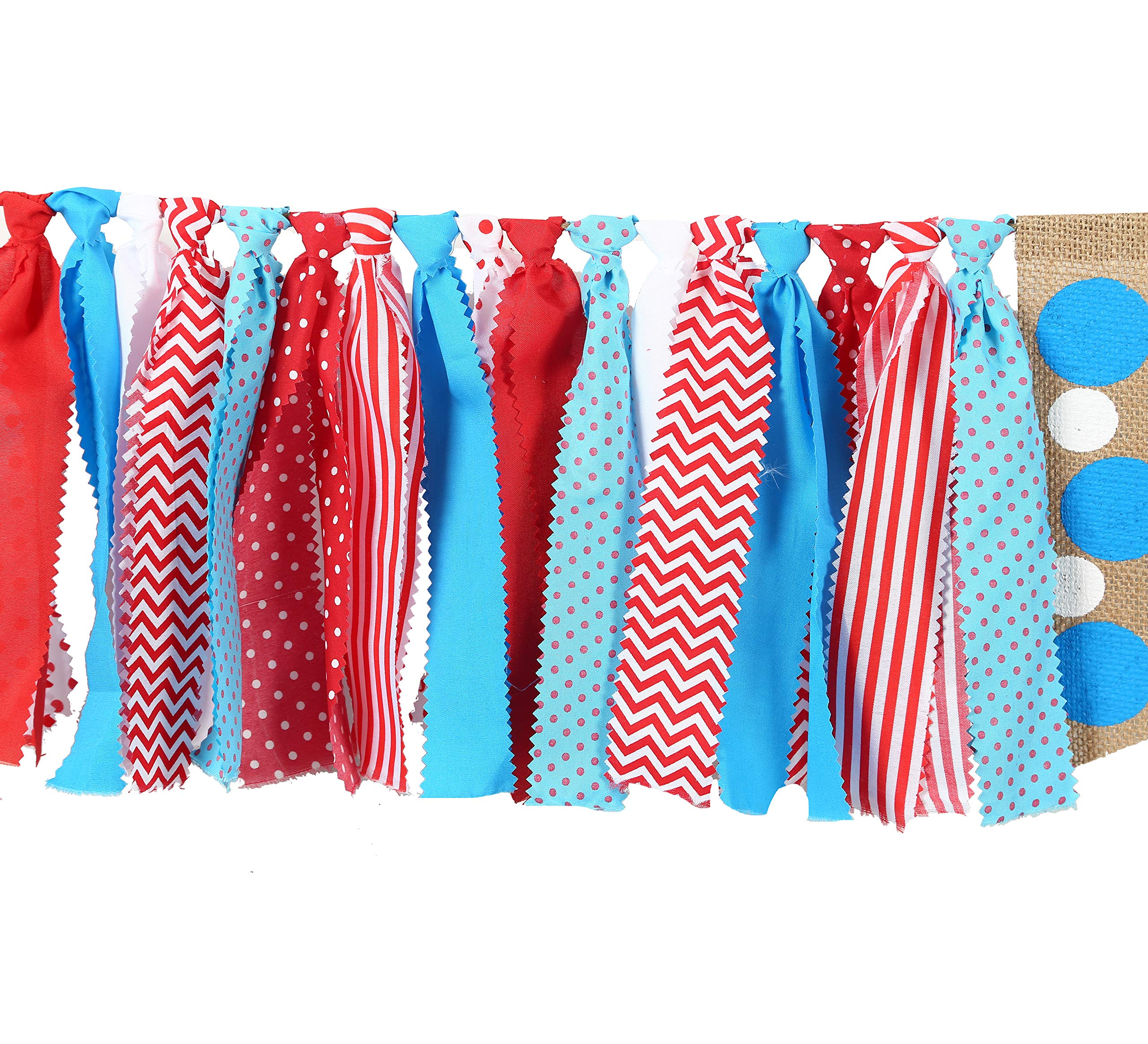 WAOUH 1star Birthday for Dr Seuss Decorations - Dr Seuss Party Supplies for Highchair Banner-Photo Prop for Dr Seuss Wall Decor,Birthday Souvenir and Gifts for Kids (1st Birthday Banner) by WAOUH (Image #4)