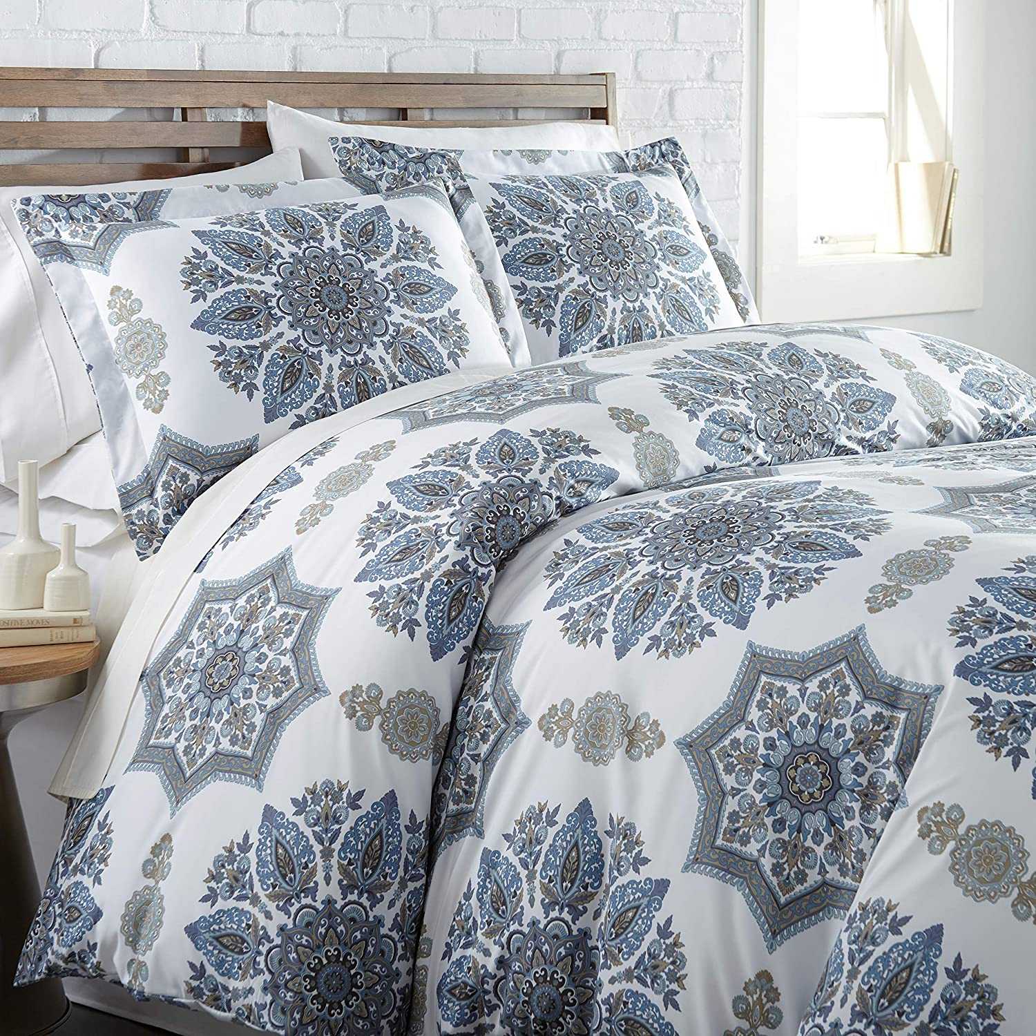 Southshore Fine Living, Inc. The Infinity Collection Comforter Sets, 3 Piece Set, King/California King, Blue