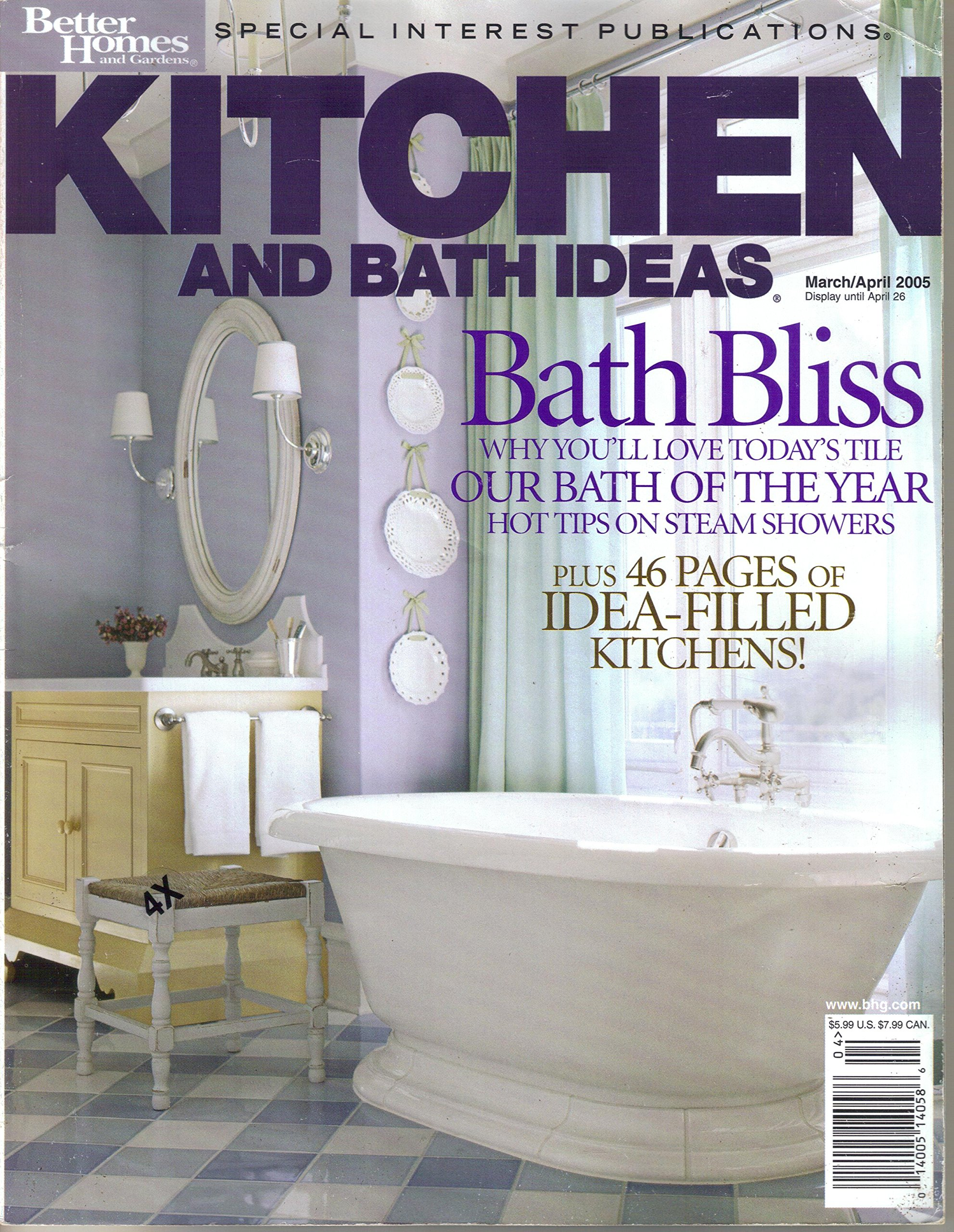 Kitchen And Bath Ideas Magazine March April 2005 Bath Bliss Amazon Com Books