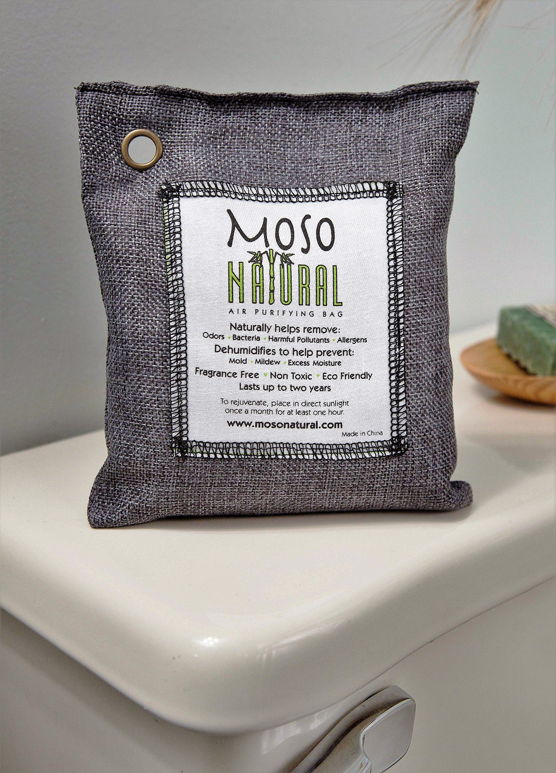 Two (2) Moso Natural Air Purifying Bags 1-200g and 1-500g, Charcoal
