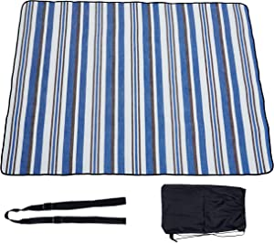 WAYAVA Thanksgiving Decorations for Home Picnic Mat Waterproof Washable Extra Large Blue and Green Checkered 79'' X 79''