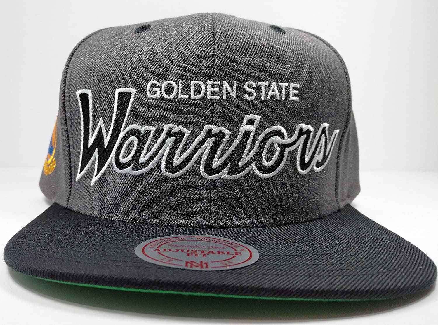 Amazon.com   Mitchell   Ness Golden State Warriors Charcoal Vintage Draft  Special Script Hat Cap NBA   Sports   Outdoors f91a6d7a17b